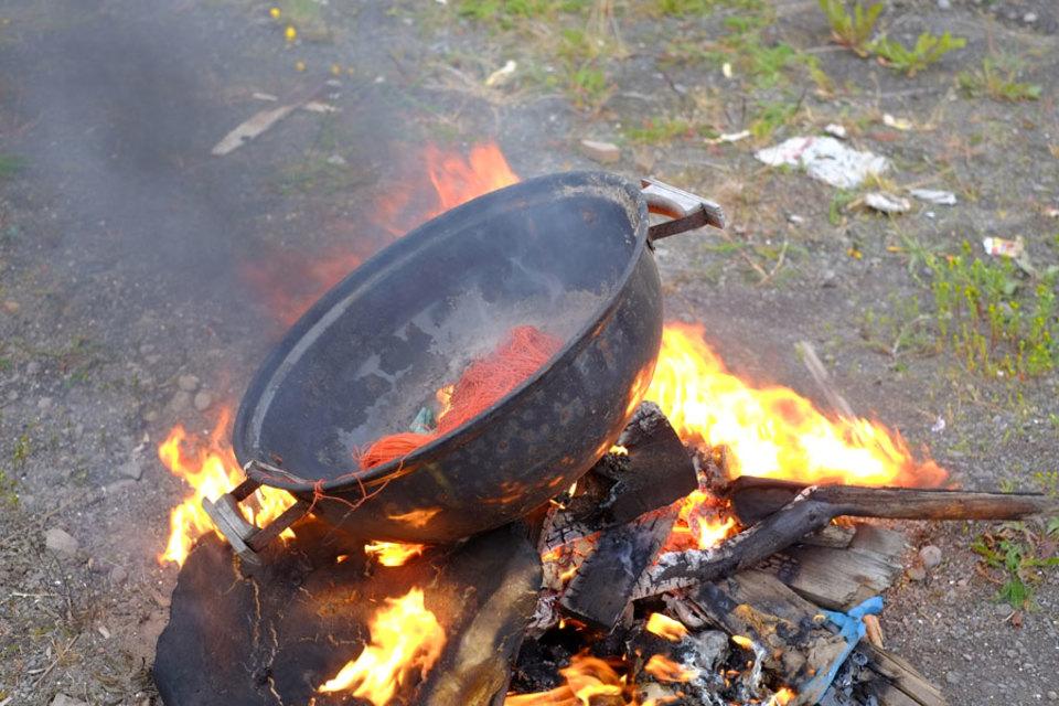 Standard fire pot