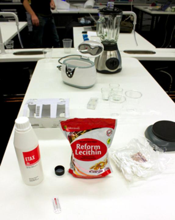 Standard tools stuff liposomes
