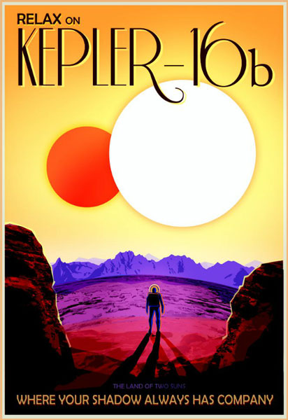 Starbeastlog nasa poster kepler16b